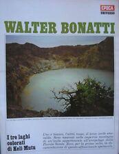 WALTER BONATTI LAGHI KELI MUTU EPOCA 1970 # 1050 COMPLETO DI INSERTO ALLEGATO