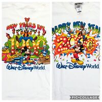 VTG NEW Disney World Millennium T-Shirt Cast Member 1999 2000 RARE • Small
