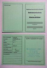 ABE Schwalbe Kr 51 51/1 51/S /K  Betriebserlaubnis SIMSON OHNE Typenschild DDr