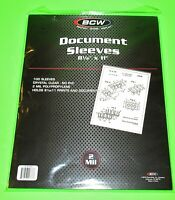 "100 8-1/2""x11"" DOCUMENT / PRINT SLEEVES-CLEAR-ARCHIVAL SAFE-ACID FREE-2 MIL"