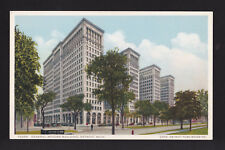 c1930 General Motors automobile building Detroit Michigan postcard