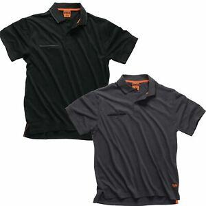 Scruffs Polo Shirt Short Sleeve Workwear Work Top Mens T Shirt Size S - 2XL
