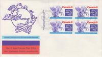 CANADA #648 8¢ UPU CENTENARY UL PLATE BLOCK FIRST DAY COVER