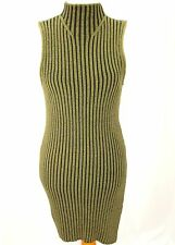 Rock & Republic Women NEW Dress Size L Green Olive Bodycon sleeveless Cotton $50
