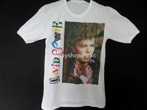 """Rare Vintage David Bowie The Glass Spider European Tour 1987 T-Shirt - Size 34"""""""