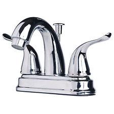 "Contemporary Bathroom Vanity Sink 4"" Centerset Lavatory Faucet Chrome Finish"