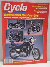 Vintage Cycle Magazine August 1984 Motorcycle Suzuki GV1200