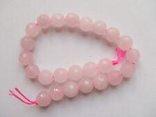 1filo /24pz di perline pietre in quarzo rosa  sfaccettate 8mm bijoux
