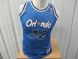VINTAGE CHAMPION ORLANDO MAGIC SHAQUILLE O'NEAL #32 YOUTH WOMEN'S LARGE JERSEY