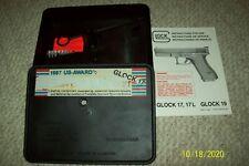 EARLY GLOCK 19 9MM ORIGINAL TUPPERWARE CASE BOX G19 1988 MANUAL , BRUSH , LOADER