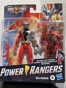 Power Rangers Dino Fury Red Ranger 6-Inch Action Figure Key Inside Unlocks Sound