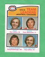 1976-77 OPC O PEE CHEE  # 388  Canadiens Team Leaders nrmnt