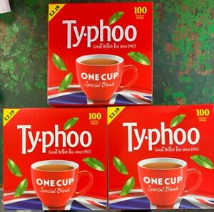 3 x 100 Teabags Typhoo One Cup Special Blend Tea Bags