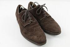 CROCKETT & JONES Brown Suede Brogue Shoes size 9 E
