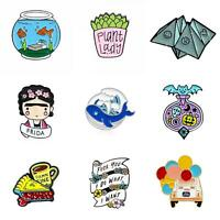 Cute Unisex Enamel Brooch Pin Lapel Jeans Coat Badge Clothes Decor Jewelry Gift