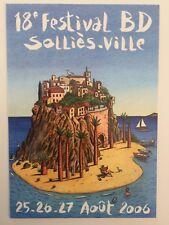 Carte Postale Festival Bd Solliès Ville Numéro 18 Dédicace Loustal