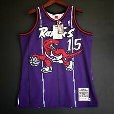 100% Authentic Vince Carter Mitchell Ness Raptors away Jersey Size 44 L