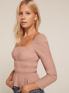 Reformation Laurent Top in Blush Pink, sz S