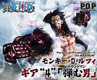 POP Portrait.Of.Pirates One Piece SA-MAXIMUM Monkey D Luffy gear 4 figure JAPAN