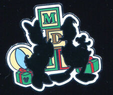 Dlr Hidden Mickey Christmas Silhouette Donald and Daisy Disney Pin 66281