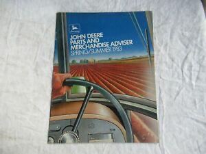 1983 John Deere parts and merchandise accessories catalog brochure
