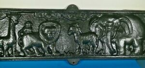 Vintage Cast Iron Exotic African Animal Sculpture Wall Hanging / Plaque