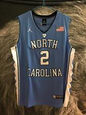Men's North Carolina #2 Coby White College Blue Basketball Jersey Size M
