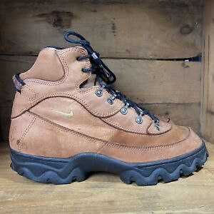 Vintage 90s Nike Air ACG Boots Brown Leather Trail Hiking 960507 Mens US Sz 10