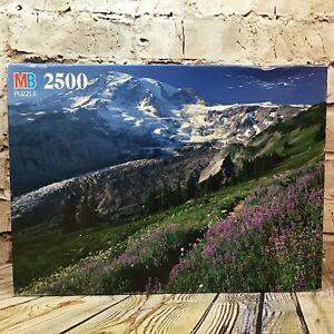 Milton Bradley Grand Vintage 2500 Piece Jigsaw Puzzle Mountains Landscape 1991