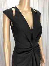 ** T BY BETTINA LIANO ** BNWT $119 * Sz 8 Black Twist Cocktail Dress - (B185)