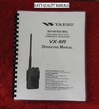 Highest Quality Vx-8R Instruction Manual *32 Lb Paper* w/The Heavier Covers!
