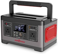 Rockpals Portable Power Station 500W, 520Wh Cpap Backup Lithium Battery Pack Cam