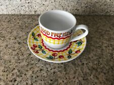 Mary Engelbreit Good Friends Cherries Tea Cup and Saucer