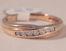 Fabulous .15 ct Natural Mined Diamond Half eternit Ring in 9 carat gold Size O