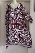 NWT AUTOGRAPH MULTI COLOURED WINTER BERRIES MID LENGTH 3/4 SLEEVE DRESS SIZE 20
