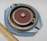 """Vintage Milling Machine Machinists Swivel Vise Base 5-1/2"""" Bolt Placement L-3112"""
