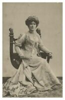 Antique printed postcard Edith Cole actress theatre stage
