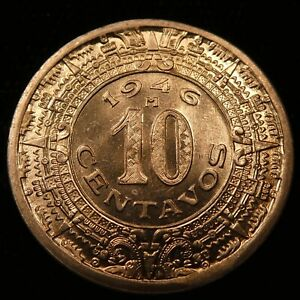 1946 Mexico 10 Centavos BU KM 432 (501)