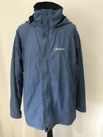 Berghaus Womens Aqua Foil Waterproof Blue Size UK 18 Coat Jacket Zip Up Hooded