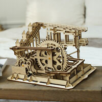 ROKR DIY Model Kits Assembly Toy for Adults Teens Wooden Mechanical Marble Run