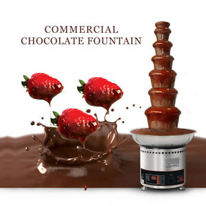 Commercial 7 Tiers Stainless Steel Chocolate Fountain Machine Party Wedding CE