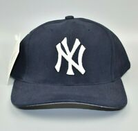 New York Yankees Logo Athletic Vintage 90's Wool Strapback Cap Hat - NWT