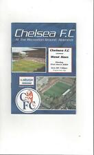 Chelsea v West Ham United Reserves Football Programme 2001/02