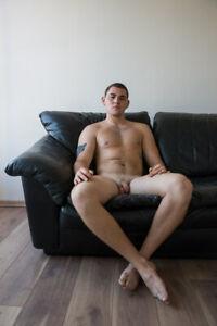 """Felix naked""  Signed Art Photograph by Igor Zeiger. Gay interest. 15 x 21"