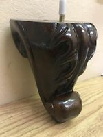 "Carved Wood Leg, Sofa, Chair, Loveseat, Ottoman, dresser Feet ( 4 Legs ) 6"" H"
