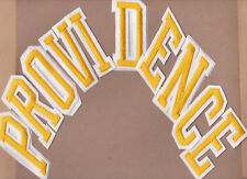 PROVIDENCE FRIARS NCAA COLLEGE GOLD LETTER PATCHES - SET OF 10