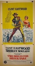TWO MULES FOR SISTER SARA 1970 Australian 3 sheet movie poster Clint Eastwood