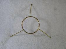 """New listing Vtg 10"""" Brass Spider Tripod Kerosene Oil Lamp Glass Shade Holder Fitter Ring"""