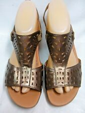 Bare Traps Womens Sling back Open toe Sandals JORDY Size 9 M  Bronze Leather #B
