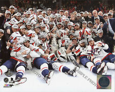 Washington Capitals Celebrate On Ice 2018 Stanley Cup Champions 8x10 Team Photo